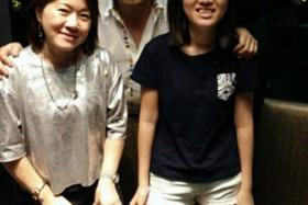 LOSS: Mr Robin Poon Joo Kim with his wife Yep Lay Choo and their daughter Kimberly Poon Hui Yin.