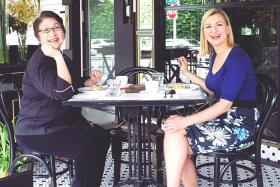 Canadian celebrity chef Anna Olson (right) with Singapore celebrity chef Violet Oon (left)