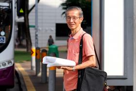 MOVING AROUND: Mr Michael Ng (photo) makes full use of his monthly senior citizen concession pass, which helps him to save on transport fees.