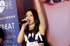 SUPERSTAR: Hong Kong-Chinese singer G.E.M. (above) was in town to promote the release of her new album, Heartbeat.