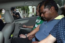 ACCUSED: Thennarasu Karupiah in court yesterday.