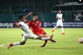 FIVE-STAR SHOWING: Singapore U-21's Joshua Pereira 