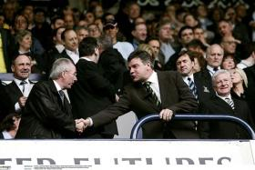 He's very organised, so it will be a very organised team... I think it depends on the situation, whether you have a top team, a middle team or a bottom team. — Former England manager Sven-Goran Eriksson (left) on Sam Allardyce's (right) style