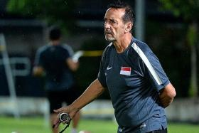 SUPPORT: Coach Richard Tardy is hoping to see more Singaporeans come to back the U-21 team.