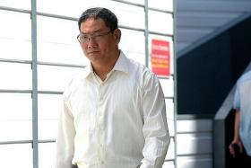 IN COURT: Cabby Chan Chuan Heng (above) is charged with voluntarily causing hurt to Mr Arne Corneliussen.