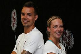 Chris (left) and Gabby Adcock (right).