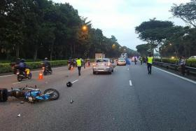 FATAL: (Above) The motorcyclist was pronounced dead at the scene.