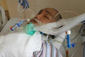CRITICAL CONDITION: Mr Lee Kar Choon is in the intensive care unit at Khoo Teck Puat Hospital.