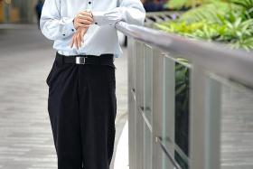 DREAMS: Mr Lionel Tan hopes to get a polytechnic diploma and become an entrepreneur one day.