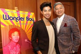 STARS: (Left) Wonder Boy will be Benjamin Kheng's second time playing Dick Lee (right).