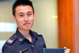 Sgt Lee Chee Guan, 23, received the MHA Full-Time Degree Sponsorship Programme to pursue a Bachelor in Accountancy at NTU