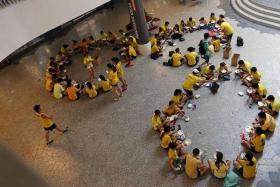 BONDING: An orientation activity at NUS' University Town on June 27.