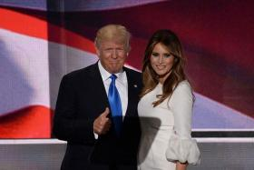 TALK OF THE TOWN: Mr Donald Trump and his third wife Melania.