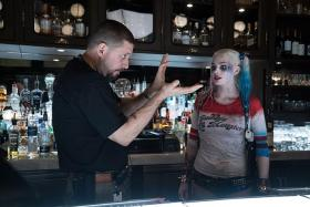 SQUAD LEADER: David Ayer directing Margot Robbie (above)  in Suicide Squad.
