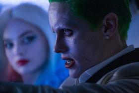 FULLY IMMERSED: (Below) Jared Leto channelled his inner madman to bring the creepy Clown Prince of Crime - the Joker - to life in Suicide Squad.