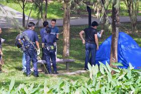 A dead body was found at Chinese Garden on August 4 at 1.50pm. Chinese Garden was closed for police investigations.
