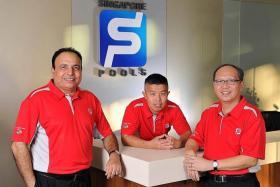 HELPING HAND: (From far left) Responsible Gaming Ambassadors Manjit Gill, Calvin Lim and Steven Tan.
