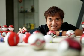IN DEMAND: Mr Ramzul Ihsan is the founder of The Phoenix Orb Project, a local business producing Pokemon collectibles, including Poke Balls.