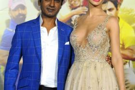 British actress Amy Jackson at the trailer launch of Hindi film Freaky Ali in Mumbai on Aug 7, 2016.