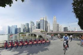 FUTURE: An illustration of a potential bicyclesharing station in Singapore.