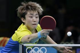 The woman's table tennis team will be go up against Japan for the bronze medal tonight.