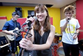 HUBBABUBBAS: (From left) Ryan Chan, Stephanie Lim and Mervyn Ye.