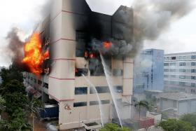 BLAZE: It took SCDF five hours to get the fire in CK Building under control.