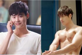 FRIENDLY COMPETITION: Actor Lee Jong Suk (left) in W and actor Kim Woo Bin in Uncontrollaby Fond.
