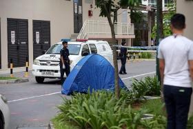 FALL: Benjamin Lim's body was found at the foot of his block of flats in Yishun.