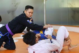 POSITIVE: Ms Grace Huang turned a bad relationship into an opportunity to pick up martial arts.