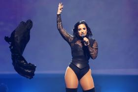 COPYCAT? Sleigh Bells claim Demi Lovato (above) stole their song.