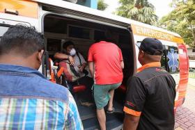 CAUTIOUS: Five patients who visited Sims Drive Medical Clinic yesterday were taken to the CDC for more tests.