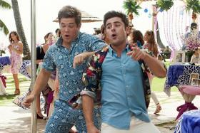 MORE THAN A PRETTY FACE: Zac Efron (above right) with Adam DeVine in Mike And Dave Need Wedding Dates.