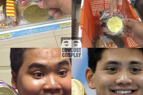 Mr Anucha Sangchart's cosplay of Olympic medal winner Joseph Schooling, as seen on Facebook page Lowcostcosplay.