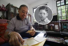 Mr William Gwee reminisces over his memories as a 12 year old during World War 2