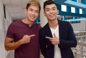 DASHING: Royston Tan (right) directed Eat Already?, which stars Elvin Ng.
