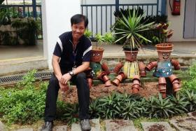 VERSATILE:Mr Andy Ang teaches subjects such as horticulture, housekeeping and Latin dance.