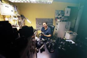 ONE-MAN SHOW: Mr Steven Lee has been running Camera Hospital for about 15 years.