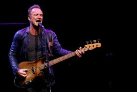SO LONELY: Sting is on his own for his upcoming album 57th & 9th.