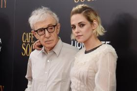 ICONS: Woody Allen and Kristen Stewart attending the premiere of Cafe Society in New York City in July.