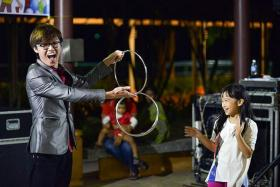 MAGIC SHOW: Magician Jonathan Ng will be the main attraction at the Our Blocks Rock party in Yew Tee this weekend.