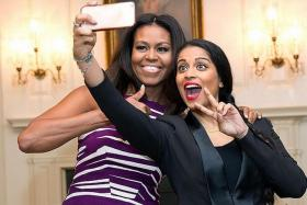 SELFIE: Lilly Singh at the White House with US First Lady Michelle Obama.