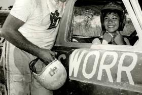 Miss Anne Wong-Holloway during her racing heyday.