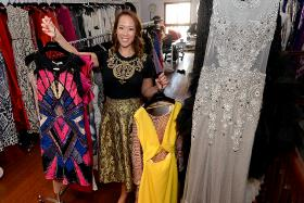 HAUTE COUTURE: Ms Carol Chen, founder and CEO of Covetella, which has over 400 dresses for rent.