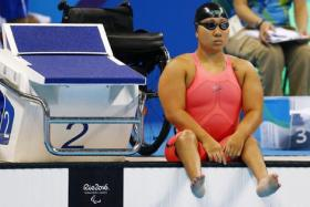 Theresa Goh before her heats in the Rio Paralympics