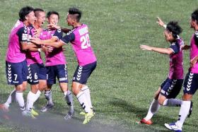 THE SWANS WILL CLASH WITH THE STAGS: Albirex Niigata (above) will face Tampines Rovers in the Singapore Cup final on Oct 29.