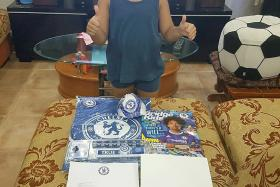 English Premier League club Chelsea FC sent birthday gifts to Singapore boy Chelsean Matteo Luke, ahead of his sixth birthday.