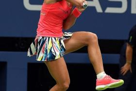 SHOW STOPPER: New world No. 1 Angelique Kerber (above) struts her stuff at the recent US Open.
