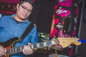 Songwriter Alwyn Tay (above) , 23, a part-time student at the School of Music and the Arts,