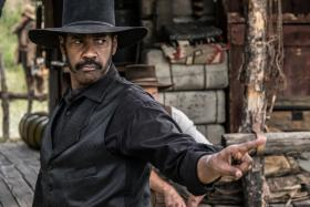 Denzel Washington stars as Sam Chisolm in The Magnificent Seven.